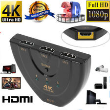 3 to 1 Port 4Kx2K 1080p 3D HDMI Multi Switch Switcher HUB Box for HDTV PS3 Xbox