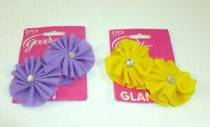 Goody Girls Special Occasion Flower Salon Hair Snap Clips, 2 packs 4 total