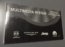 DODGE CHRYSLER JEEP MOPAR MULTIMEDIA CD DVD HDD REZ SYSTEM USERS MANUAL HANDBOOK