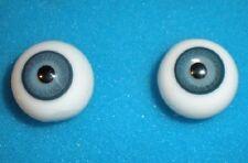Glasaugen antik blau 16/ pair of eyes of glass blue 16