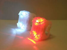 2x LED white  Frog Light Bike Bicycle Front  Rear Lights Set Cycles Light cxw