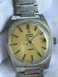 VINTAGE OMEGA GENEVE 166.0118 AUTOMATIC CAL.1481 DATE MENS 35mm SWISS MADE