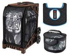 Zuca Bag Tiger Sport Insert and Brown Frame, Gift Lunchbox & Seat Cushion