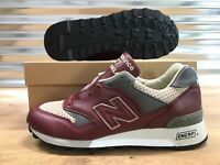 New Balance 577 Classic Leather Shoes Bordeaux Red Made In England SZ (M577LBT)