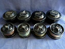4 GOOD VINTAGE CIRCA 1960'S MITCHELL 300 SPARE SPOOLS AND TUBS