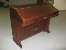 Traditional Custom Roll Top Desk Organ repurposed furniture computer hardwood
