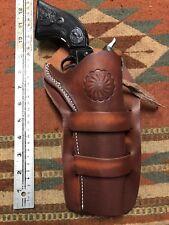 "Fit Colt SAA Cimarron Plinkerton Pietta 22Caliber 5.5"" Western Leather Holster"
