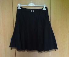 Zwarte gevoerde rok met riempje en strasssteentjes van H&M Maat 36-38