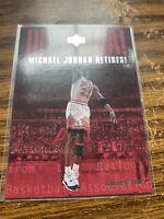 1999 Upper Deck UD Extra #UDX Michael Jordan Retires Chicago Bulls NMMT NBA Card