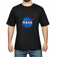 Blue NASA Men's Cotton Funny Cool T-shirts Short Sleeve Tops Tee