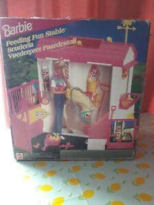 VINTAGE 1995 MATTEL BARBIE FEEDING FUN STABLE Brand New