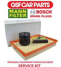 Service Kit Oil Air & Pollen Filters & Spark Plug Sparking Opel Corsa C 1.4