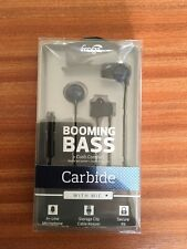 ifrogz Booming Base Ultra-Comfortable Carbide Buds/Mic Brand *NEW* Great Gift