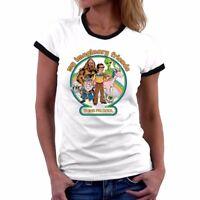 My Imaginary Friends Women short sleeve Funny t shirt Ringer cotton sport TEE