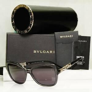 Authentic Bvlgari Womens Vintage Sunglasses Black 8174 6402 34667