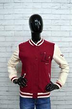 Giacca College Donna BERSHKA Taglia Size L Jacket Woman Giubbino Rosso Bianco
