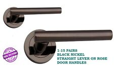 Latch Set 1-15 EPSOM Victorian Interior Door Handles Black Nickel D3