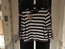 M&S Collection Ladies Striped Jumper Size 14, Beautiful Design, Lovely Condition
