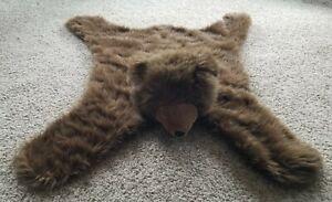 "Brown Bear Plush Throw Rug Floor Mat - Animal 42"" x 38"" Kid's Room"