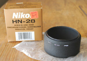 Nikon HN-28 Metal Lens Hood in box for AF Nikkor 80-200mm F2.8 lens HN28