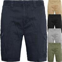 Mens 100% Cotton Cargo Combat Chino Shorts Summer Knee Length Half Pant 30-48