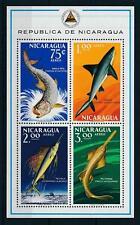 [103155] Nicaragua 1969 Marine life fish Souvenir Sheet MNH