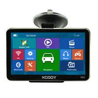 XGODY 5'' GPS SAT NAV Navigation Navigator With World Maps Traffic Bluetooth 8GB