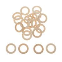 20er Pack Holzringe Natur Holz Ringe Gardinenring für DIY Anhänger