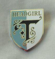 **NEW** St Trinians head girl enamel lapel pin badge. Fancy dress, blazer.