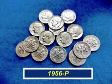 """1956-P Roosevelt Dimes �� """"Vf"""" - """"Xf"""" Condition �� 90% Silver �� (•3261)"""