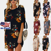 Boho Summer Women's Short Evening Party Cocktail Casual Dress Sundress Plus Size