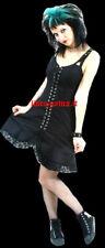 vestito corto cotone nero dark gothic goth emo lolita rock