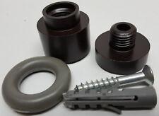 Deltana UFB4505U10B Solid Brass 1 1/2-Inch Round Universal Floor / Door Bumper