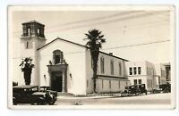 RPPC 1st Christian Church WATSONVILLE CA Vintage California Real Photo Postcard