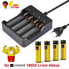 Akku Ladegerät Für 18650 3.7V Li-Ion EU Wiederaufladbare Batterie + 4x BRC Akkus