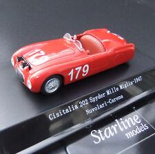 Cisitalia 202 Spyder Mille Miglia 1947  rot 179 1:43 Starline  Models #271