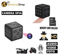 MINI TELECAMERA NASCOSTA CUBO SPIA MICROCAMERA SPY FULL HD VIDEOCAMERA