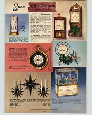 1962 PAPER AD Spartus Aquarium Table Clock Revolving Time-O-Lite Lamp Sessions