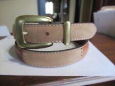 Ladies Patchwork FOSSIL Suede Leather Belt Tans Greens Medium M