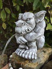 Wasserspeier Gargoyle Steinfigur Garten Deko Teich Fantasiefigur Gartenfiguren