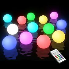 More details for hot tub lights, ip68 waterproof floating pool light with rf remote (2 pack)