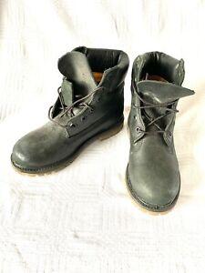 Timberland Women's  6 Inch Boot Black Nubuck Size 4 Unworn