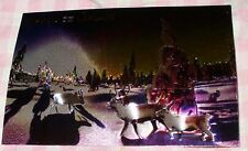 FINLAND LAPLAND 3D POSTCARD WITH REINDEER AND NORDIC LIGHTS - AURORA BOREALIS