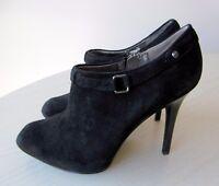 Bottines Low Boots Noir Talons Hauts Compenses Daim Noir Boots 36 GUESS 5ce72a