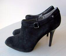 Bottines Low Boots Talons Hauts Compensées Daim Noir 36 GUESS