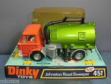 "VINTAGE DINKY TOYS  MODEL No.451    "" JOHNSTON ROAD SWEEPER ""      VN MIB"