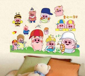 LITTLE PIGLETS  WALL STICKER PIGLET DECAL  NURSERY/KIDS/GIRLS/BOYS ROOM MURAL