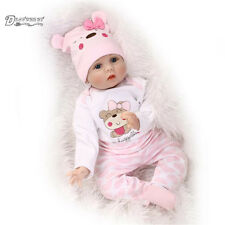 """22"""" lifelike reborn baby doll silicone vinyl real gentle touch newborn doll gift"""