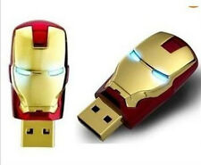 1pcs Gold USB 2.0 unique iron man model 8G Memory Stick Flash pen Drive NEW  #A2