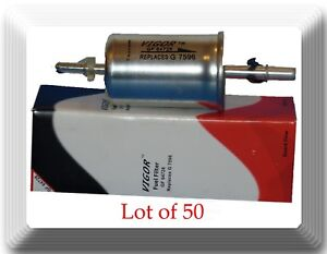 (Lot of 100) In-Line Fuel Filter F64728 Fits: Ford Lincoln Mercury